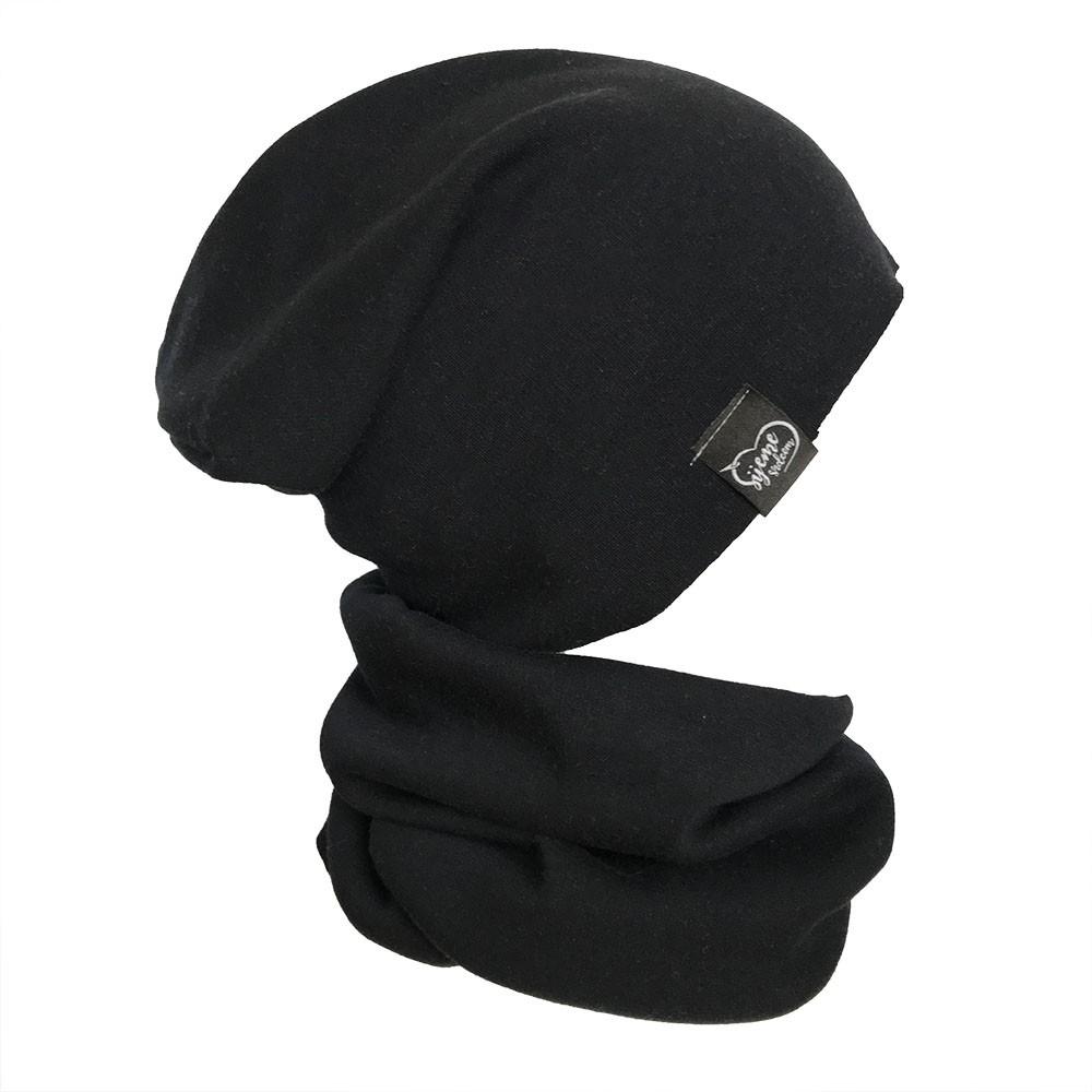 Zimní set čepice a nákrčníku tmavě modrý  875aa8d770