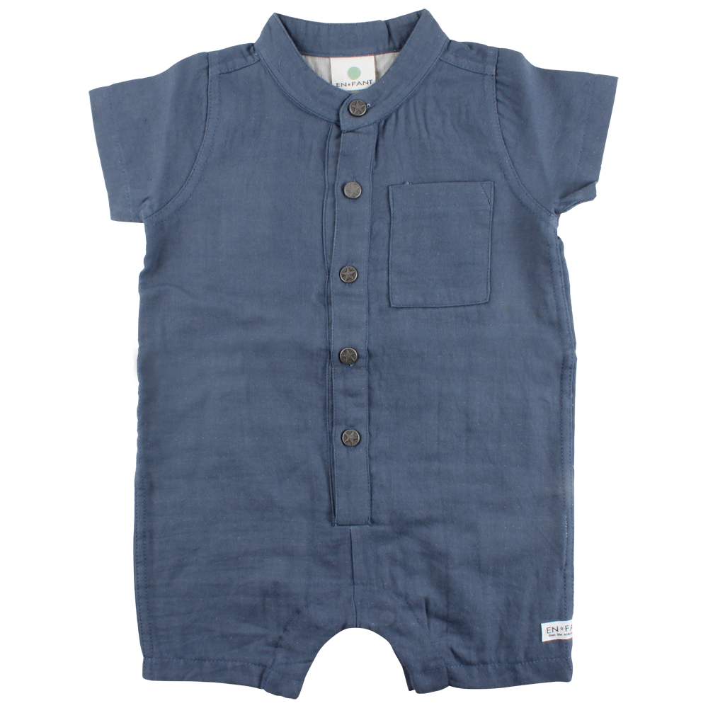 EnFant Overal China Blue - OEKOTEX