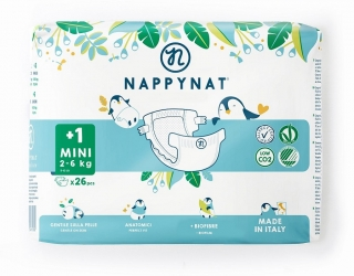 Plenky Nappynat natural care Mini 2 - 6 kg (26 ks)