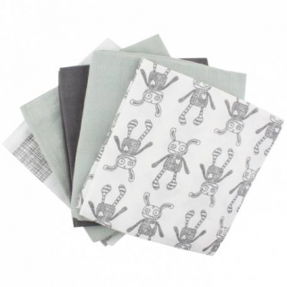 Small Rags Daze 5-Pc Pack Pleny Aqua Gray