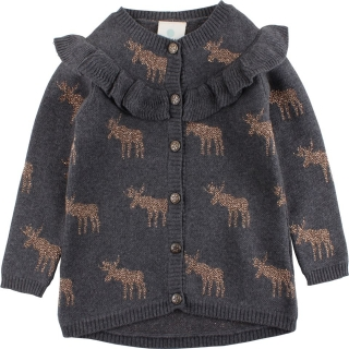 EnFant Horizon Knit Cardigan Dark Grey Melange