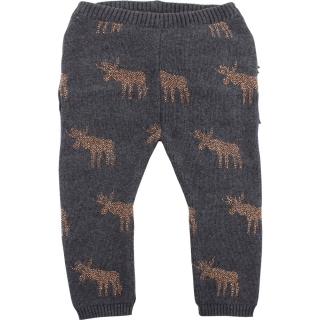 EnFant Horizon Knit Leggings Dark Grey Melange