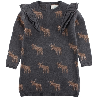 EnFant Horizon Knit Dress Dark Grey Melange