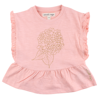 SMALL RAGS IBI Top Coral Cloud - GOTS
