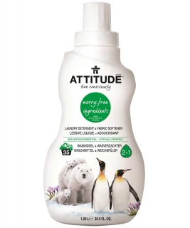 Prací gel a aviváž (2 v 1) ATTITUDE s vůní Mountain Essentials 1050 ml (35 dávek)