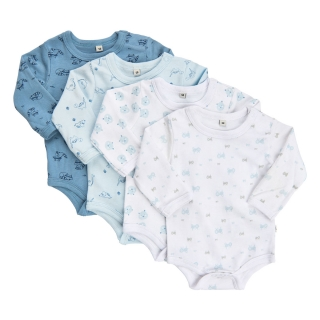 Pippi 4-pack bodyček Lightblue
